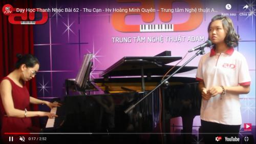 Hoàng Minh Quyên - Học viên lớp Thanh nhạc